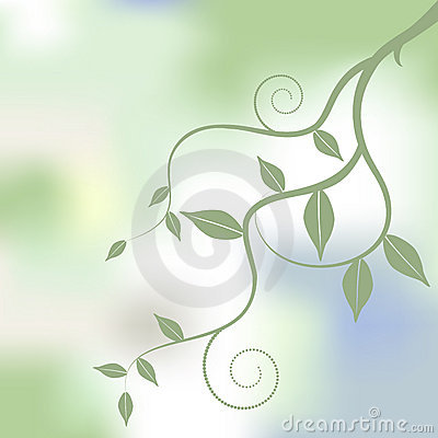 Floral background, ornament, leaves