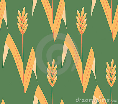 Vector seamless ear field background
