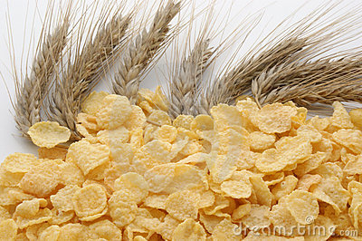 Corn flakes and cereal