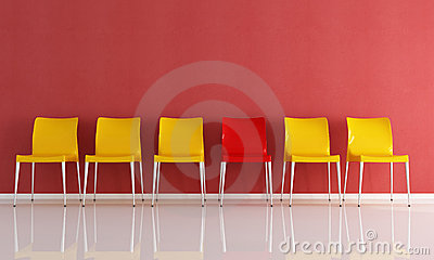 Series of plastic chairs