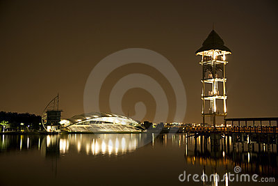 Putrajaya Lakeside at Night