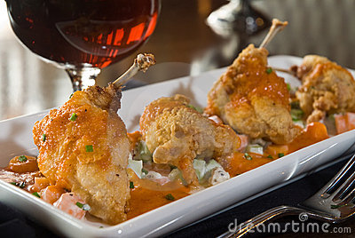 Spicy buffalo quail
