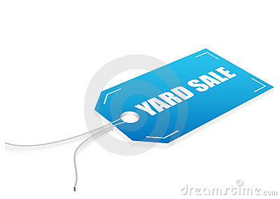 Yard sale label