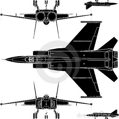 Detail Military Airplanes Base And Face Vector 01
