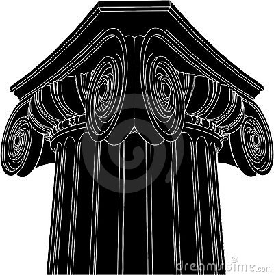 Greek Ionic Column Vector 03