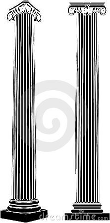 Greek Ionic Column Vector 05