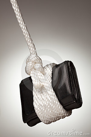 Tied Up and Hanging Wallet