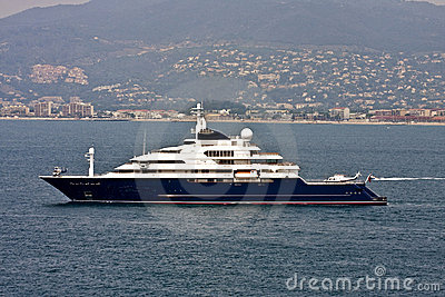 Massive Yacht with Two Helicopters