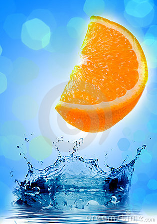 Fresh orange jumping