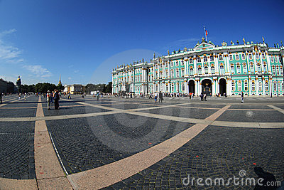 Hermitage, view from Palace Square