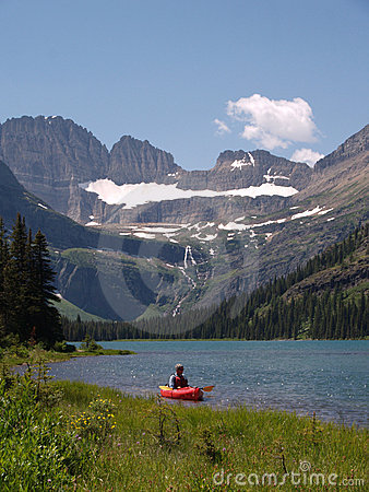 Lake Josephine and Kayaker