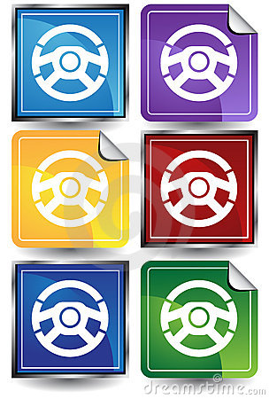 3D Sticker Set - Steering Wheel