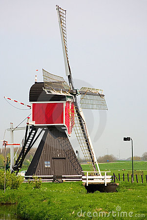 Picturesque old windmill in the Netherlands