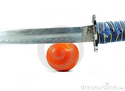 Sword and tomato