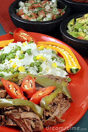 Mexican fiesta meat plate