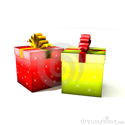 Gift boxes - 3d isolated