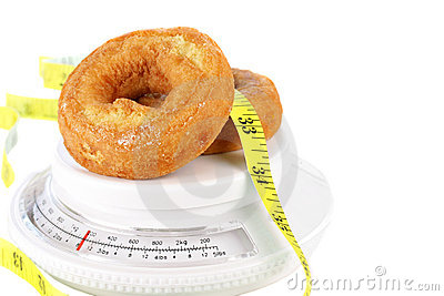 Donuts on Food Scale with Tape Measure