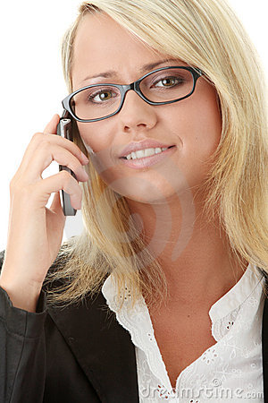 Young business women calling by cellular phone