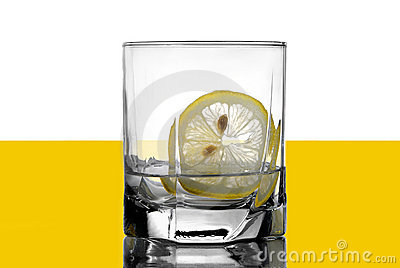 Vodka with a lemon