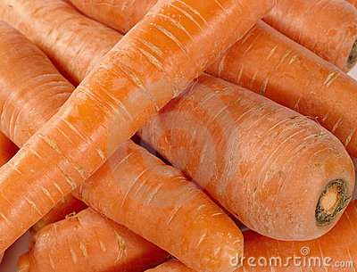 Fresh taste carrots as food background.