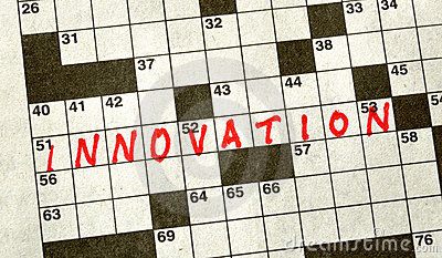 The Word INNOVATION on Crossword Puzzle