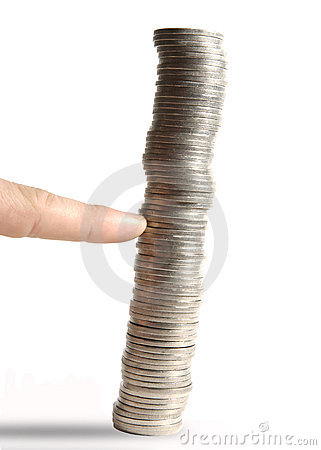 Finger pushing coins