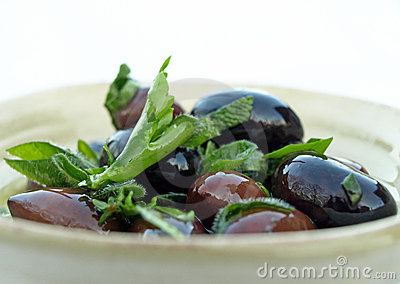 Olives and herbs