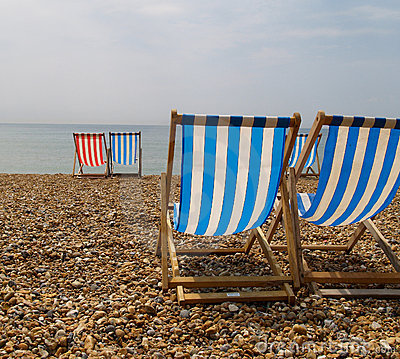 Deckchairs on Brighton Beach.