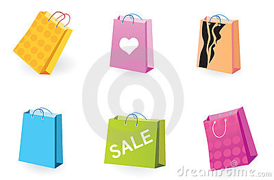 Designer Shopping bags icons
