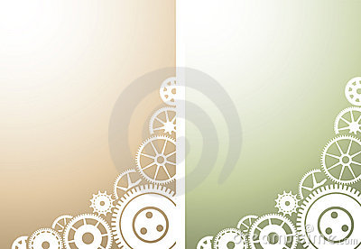 Two mechanical background with gears