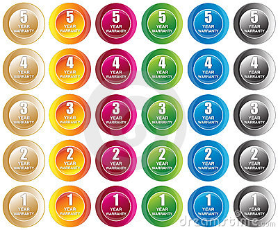 Year Warranty Buttons
