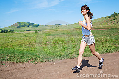Run beauty woman