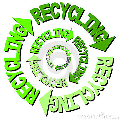 Recycling text arrows