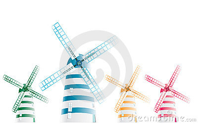 Abstract windmill pattern