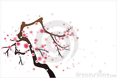 Cherry or plum blossom pattern