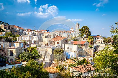 View of Pano Lefkara village in Larnaca district, Cyprus