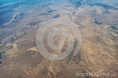 San Andreas Fault aerial view