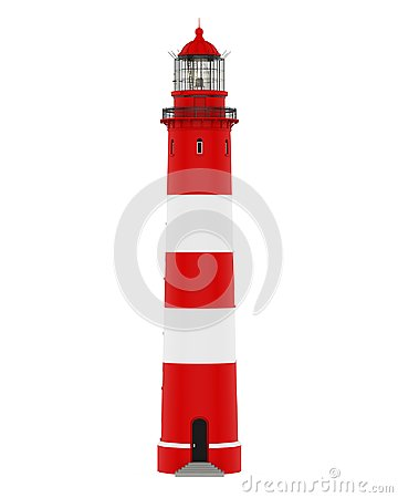 Red Lighthouse Isolated