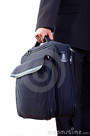 Businessman holding bag