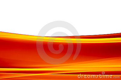 Vibrant orange background on white