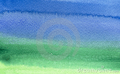 Green to blue watercolor background