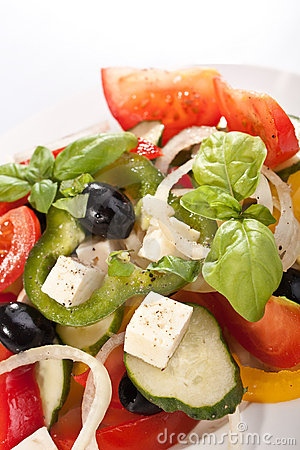 Greek salad serving