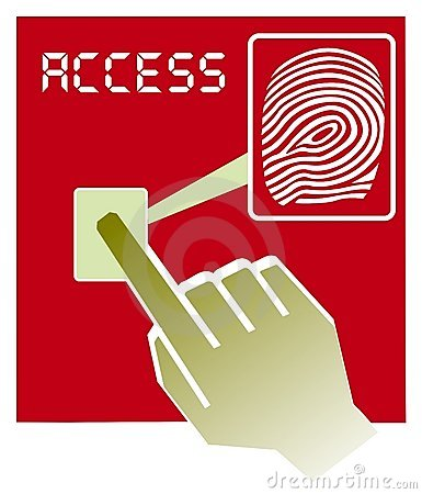 Fingerprint access  illustration