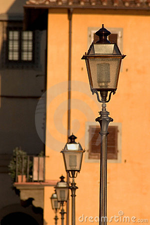 Street lamps in Florence