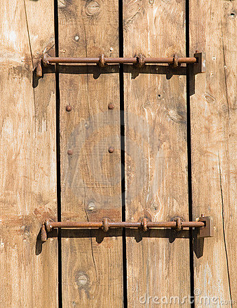 Locked door of traditional Boat House
