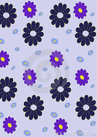 Retro abstract floral  Pattern