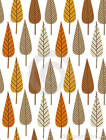 Autumn leaf seamless pattern