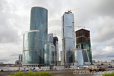Moscow Business Center under construction