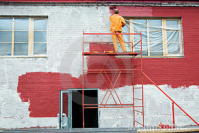 Painting in red