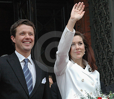 Denish Prince Frederik and his wife